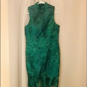 Emerald Green Costume Maid Dress